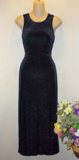 MARIAN & MARAL Womens Midnight Blue Velvet Shimmer Dress Back Detail