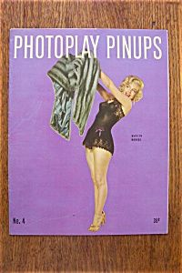 Vintage Pin Up 1953 Photoplay Marilyn Monroe Cover