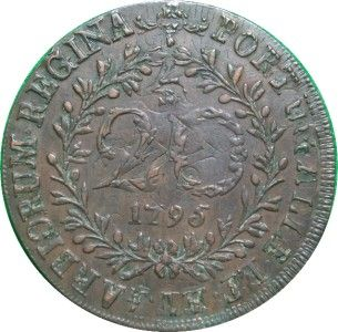 Portugal Azores 1795 20 Reis Well Struck Large Copper Coin