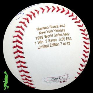 Mariano Rivera Signed Auto 1999 World Series MVP Baseball Ball Yankees