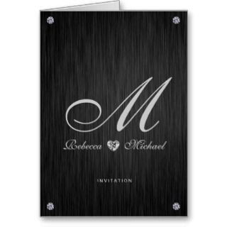 Invitaciones temáticas del boda del diamante elega tarjetón de