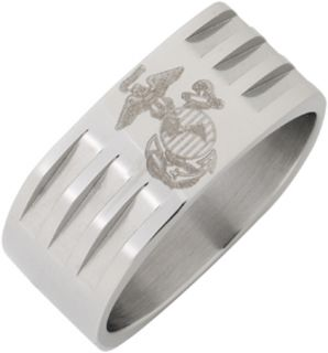 Stainless Steel US Marine Corps Ring