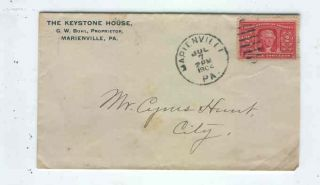 Oldhal Marienville PA The Keystone House Hotel 1904