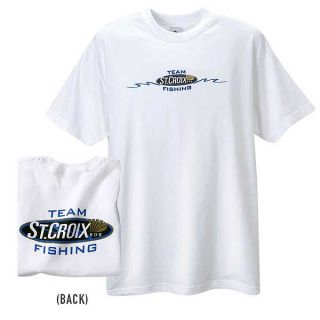 Team St Croix Fishing Rod Short Sleeve Tee T Shirt   Size XLarge   NEW