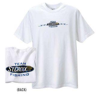 Team St Croix Fishing Rod Short Sleeve Tee T Shirt   Size XLarge   NEW
