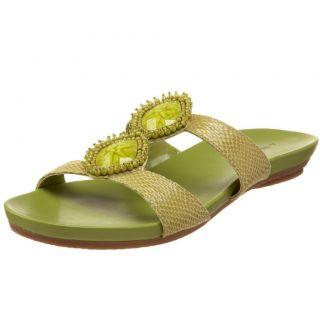 BNIB A Marinelli Lime Green Jewel Sandals Size 8