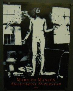 Marilyn Manson Promo Poster Antichrist Superstar 1996 Tourniquet