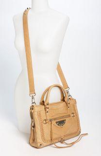 Sam Edelman Marais Armand Satchel $398 Cafe AU Lait Womens Leather