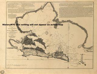 1794 San Juan Puerto Rico Harbor Nautical Map Chart
