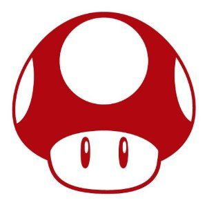 Mario Mushroom Funny Game NES JDM Euro Drift Car Sticker Decal Any