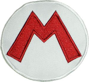 Super Mario Bros Logo Embroidered Patch Nintendo Luigi Yoshi