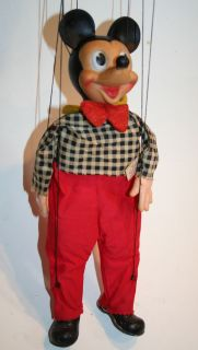 Vintage Disney Mickey Mouse Marionette by Gund N Y Early 1960S