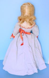 "1940s Madame Alexander Cissy Face 14 5"" Meg Doll in Blue Dress"