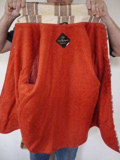 Vintage 1970s CPO Plaid Wool Faux Fleece Lined Work Shirt Jacket Coat