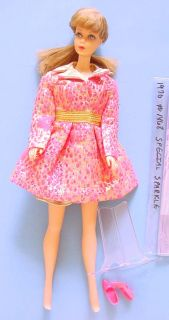 """1930s Ideal 18"""" Shirley Temple Doll in Red Polka Dot Dress w Button"""