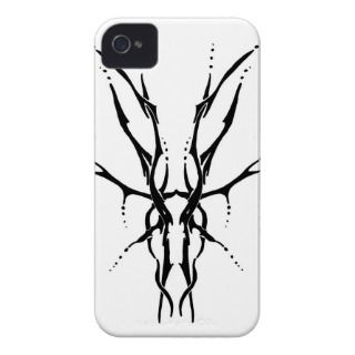 Tribal Deer Skull Tattoo iPhone 4 Cover