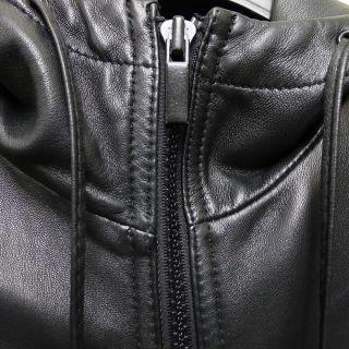 Marc Jacobs Black Hooded Leather Jacket XS Balmain Rick Owens Margiela