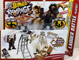 MARK HENRY RANDY ORTON W/ LADDER BATTLE PLAYSET WWE RUMBLERS RAMPAGE