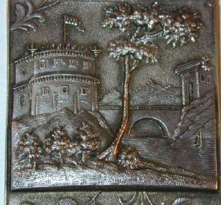 1847 Silver Castle Top Card Case Leonard Wilson USA