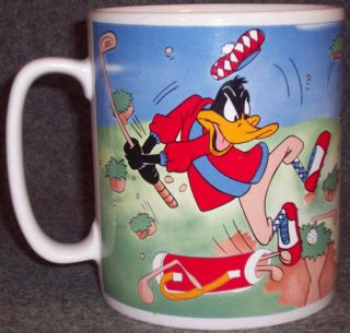 Warner Brothers Bugs Bunny Daffy Duck Golf Coffee Mug