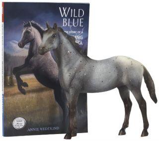 New Breyer Wild Blue Classics Horse and Book Set