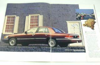 1992 92 Mercury Grand Marquis Brochure GS LS Sedan