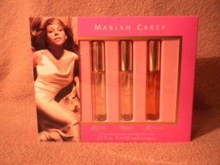 Mariah Carey 3 Perfume Set New NIB M Forever M Luscious Pink Rollers