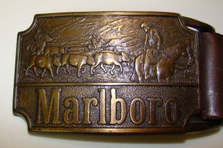 Marlboro Belt Buckle w Belt