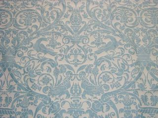 2Y Stunning Authentic Mariano FORTUNY Fabric Birds
