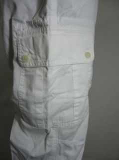 Ralph Lauren Marques Cargo Crop White 14W