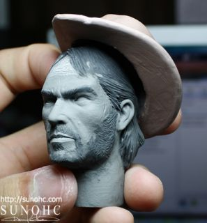 Custom Cowboy Marston Red Dead Figure Western Head Sculpt John