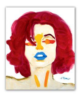 Marilyn Monroe Portrait Original French Oil Painting Modern Fine Art N