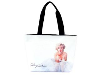 Marilyn Monroe Ballerina Signature Wide Tote Shoulder White Bag Purse