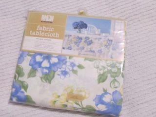 Martha Stewart Floral 60x84 Tablecloth Shabby Cottage Chic