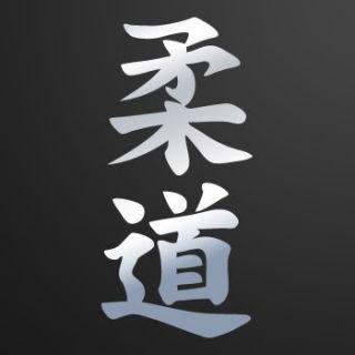 Decal Sticker Martial Art HIEROGLYPH Kanji Judo ZK936