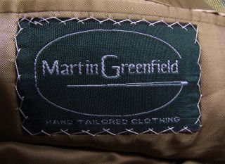 Martin Greenfield Hand Tailored Clothing Marvelous Mens Jacket Sz 42 R