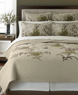 Martha Stewart Autumn Maple 300T Full Queen Quilt New