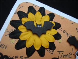 Handmade Halloween Card Stampin Up Bats Martha Stewart