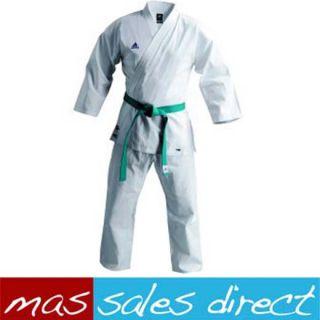 New Adidas Mens Martial Arts K200 Black Karate Uniform