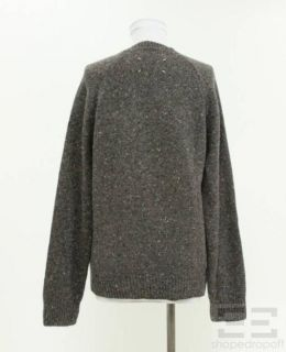 Martin Margiela Grey Brown Wool Cashmere V Neck Sweater Small