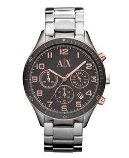 Armani Exchange Watch, Womens Chronograh Stainless Steel Bracelet