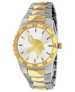 Game Time Watch, Mens Minnesota Vikings Two Tone Stainless Steel