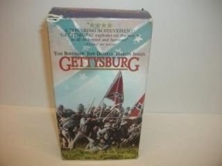 Gettysburg 2 Tape Set VHS Civil War Movie Tape TNT Original