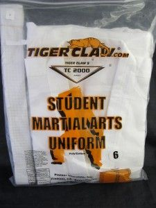 Taekwondo Karate Martial Arts Tiger Claw Uniform 6 New