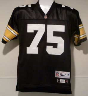 Joe Greene Autographed Signed Pittsburgh Steelers Black Reebok Jersey