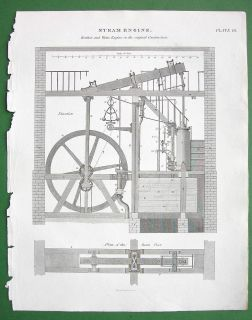 Watts Boultons Original Construction Antique Print A Rees