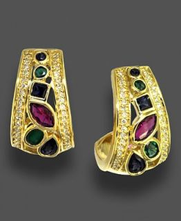 Effy Collection 14k Gold Earrings, Multi Stone (2 ct. t.w.) and