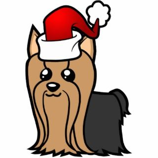 Christmas Yorkie (long hair) Cut Outs