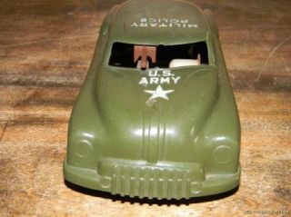 Vintage Marx U s Army Military Police Car Siren Sparking Gun Number