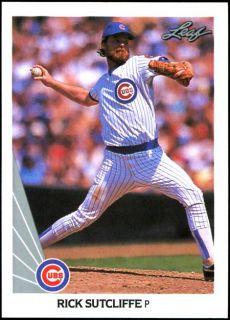 1990 Leaf Rick Sutcliffe Marvell Wynne Chicago Cubs Wrong Back Error